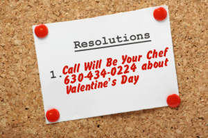 New Year's Resolution - call WillBeYourChef about parties!